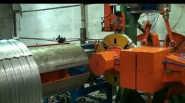 steel wire winding and strapping line
