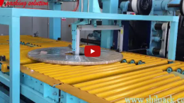 steel coil packing line video